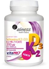 Aliness Witamina K2 FORTE z Natto + D3, 60 kapsułek