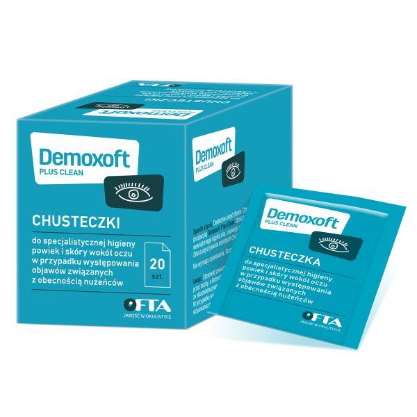 DEMOXOFT Plus Clean Chusteczki do specjalistycznej higieny powiek